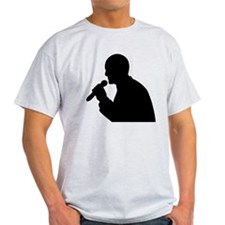 Man With Mic Silhouette T-Shirt