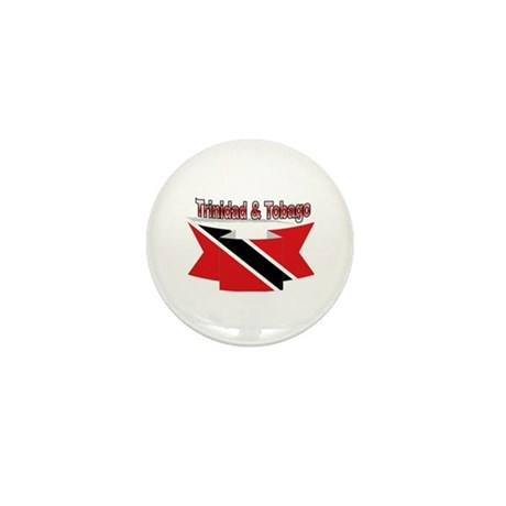 Trinidad flag ribbon Mini Button
