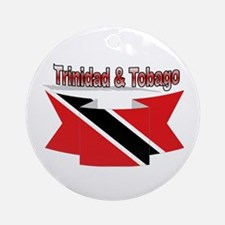 Trinidad flag ribbon Ornament (Round)