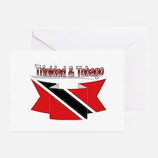 Trinidad flag ribbon Greeting Cards (Pk of 10)