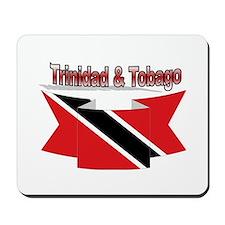 Trinidad flag ribbon Mousepad