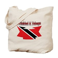 Trinidad flag ribbon Tote Bag