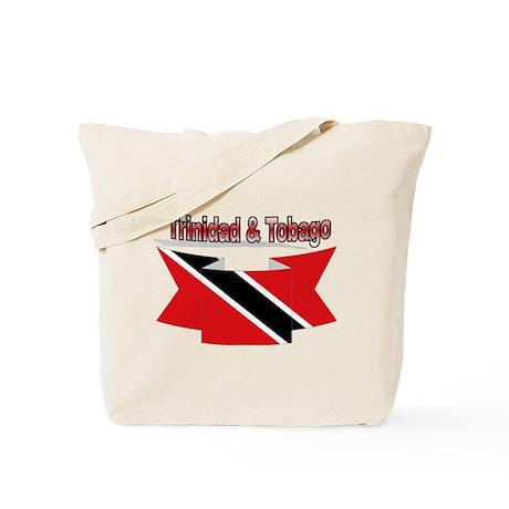 Trinidad flag ribbon Tote Bag