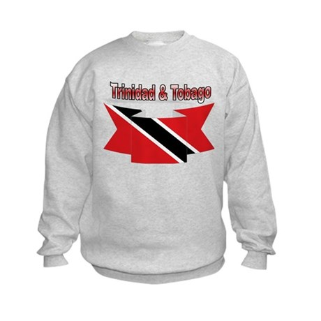 Trinidad flag ribbon Kids Sweatshirt