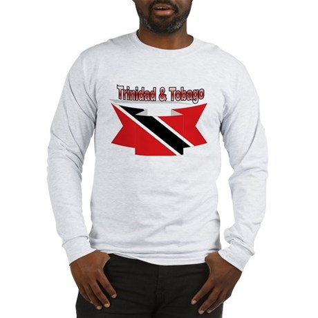 Trinidad flag ribbon Long Sleeve T-Shirt