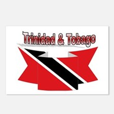Trinidad flag ribbon Postcards (Package of 8)