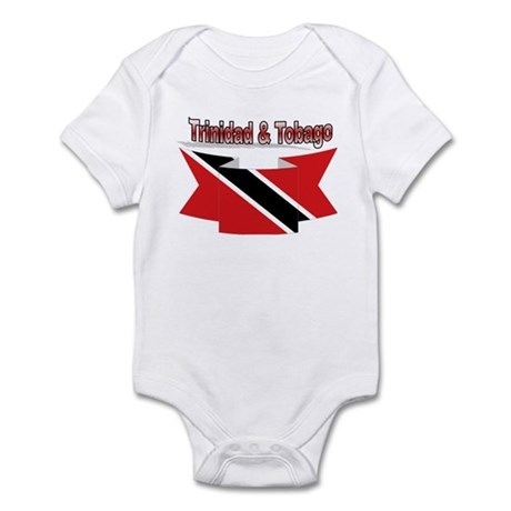 Trinidad flag ribbon Infant Bodysuit