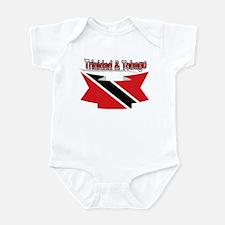 Trinidad flag ribbon Infant Bodysuit
