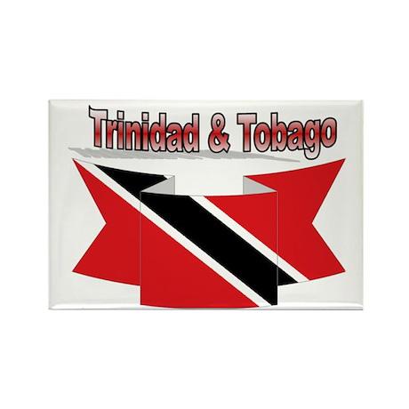 Trinidad flag ribbon Rectangle Magnet