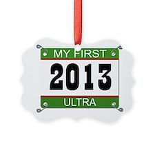 My First Ultra Bib - 2013 Ornament