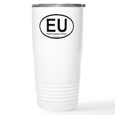 EU European Union Oval Travel Mug