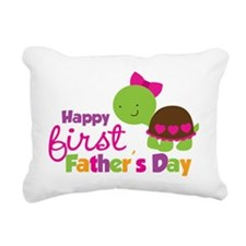 TurtleGirl1stFathersDay Rectangular Canvas Pillow