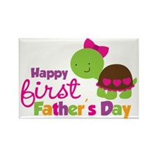 TurtleGirl1stFathersDay Rectangle Magnet