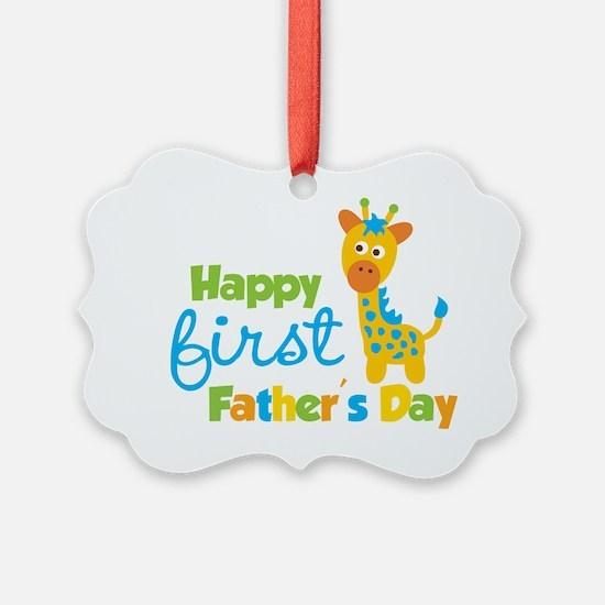 Giraffe 1st Fathers Day Ornament