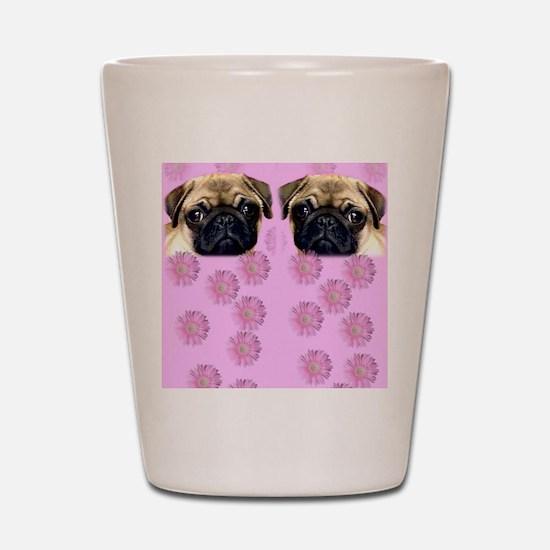 Pug Dog Shot Glass