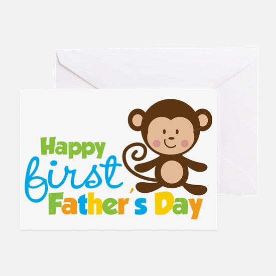 MonkeyBoy1stFathersDay Greeting Card