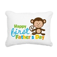 MonkeyBoy1stFathersDay Rectangular Canvas Pillow