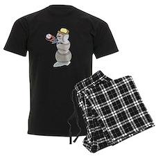 Baseball Snowman Christmas pajamas