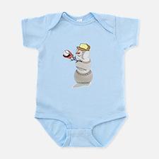 Baseball Snowman Christmas Infant Bodysuit