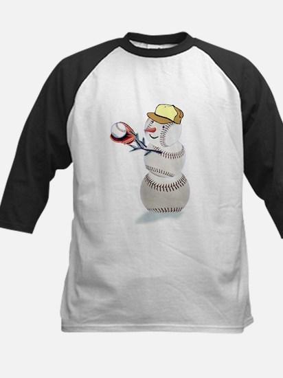 Baseball Snowman Christmas Kids Baseball Jersey