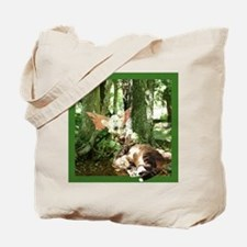 Fairy & Cat in Moss ForestTote Bag