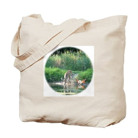 Buck & Fairy ReflectionTote Bag