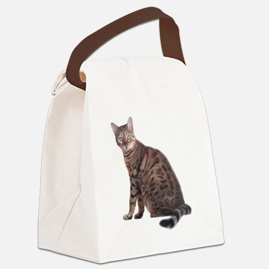 Cute Bengal Canvas Lunch Bag