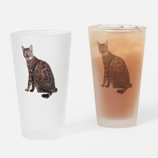Cute Bengal Drinking Glass