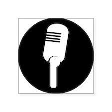 Black Microphone Icon Sticker