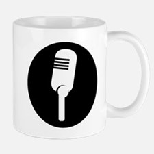 Black Microphone Icon Mugs