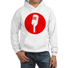 Red Microphone Icon Hoodie