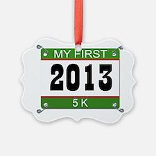 My First 5K Bib - 2013 Ornament