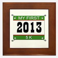 My First 5K Bib - 2013 Framed Tile