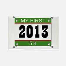 My First 5K Bib - 2013 Rectangle Magnet
