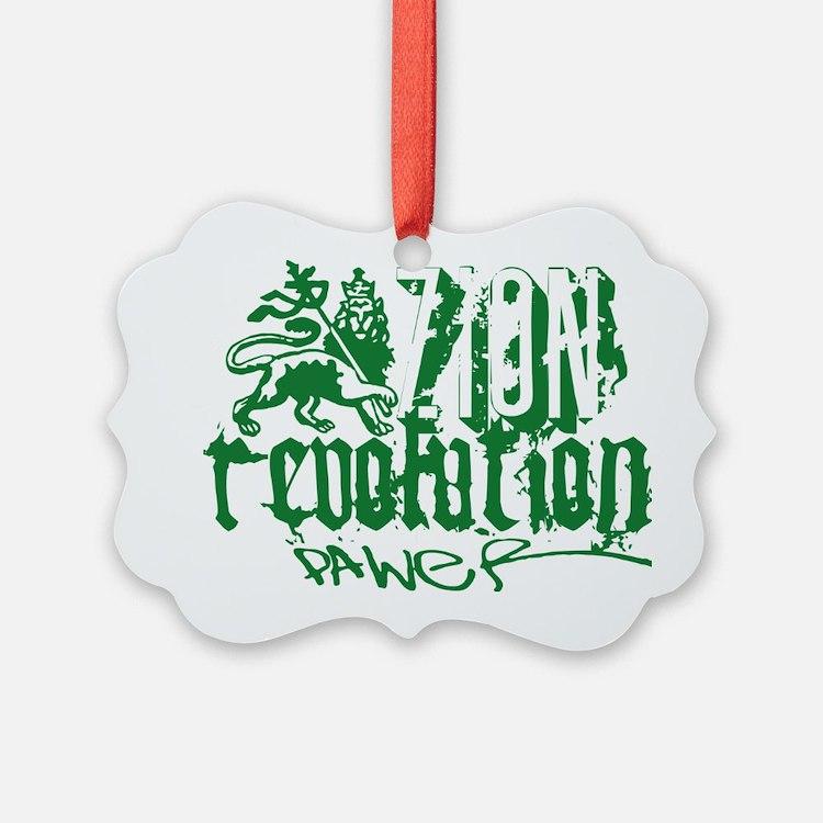 Zion Revolution Power green Ornament