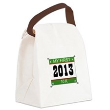 My First 10K Bib - 2013 Canvas Lunch Bag