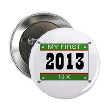 "My First 10K Bib - 2013 2.25"" Button"