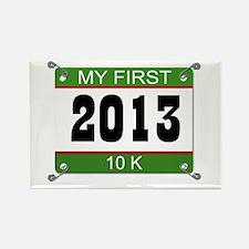 My First 10K Bib - 2013 Rectangle Magnet