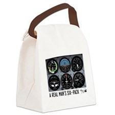 Six-Pack.png Canvas Lunch Bag