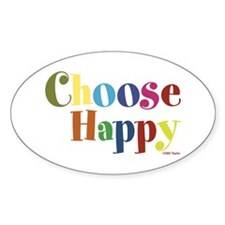 Choose Happy 01 Bumper Stickers