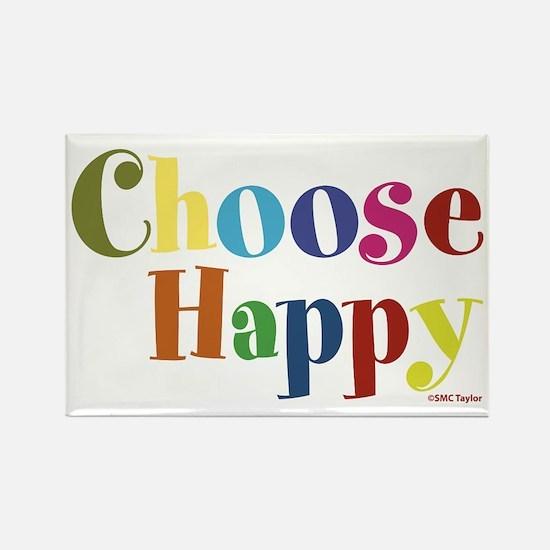 Choose Happy 01 Rectangle Magnet