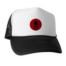 Red Microphone Icon Trucker Hat
