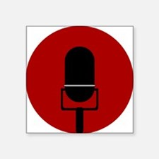 Red Microphone Icon Sticker