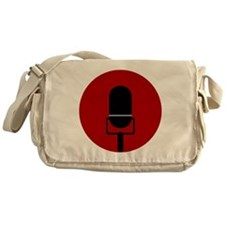 Red Microphone Icon Messenger Bag
