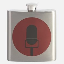 Red Microphone Icon Flask