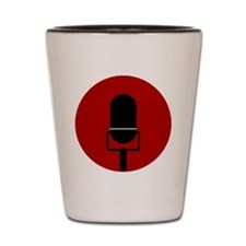 Red Microphone Icon Shot Glass