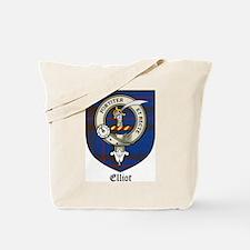 Elliot Clan Crest Tartan Tote Bag