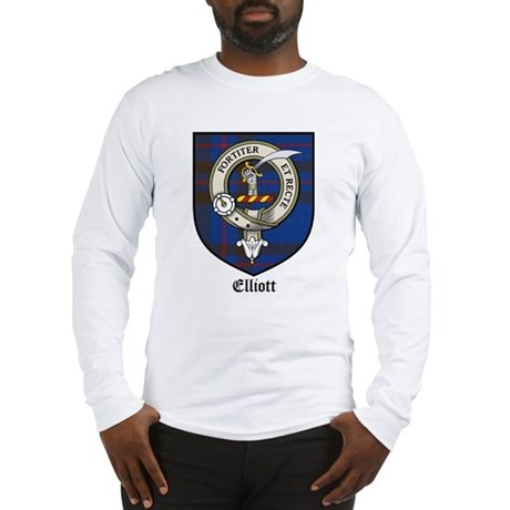 Elliott Clan Crest Tartan Long Sleeve T-Shirt