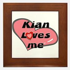 kian loves me  Framed Tile