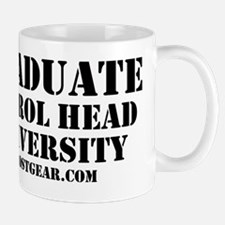 PETROL HEAD UNIVERSITY SHIRT - WHITE Mug
